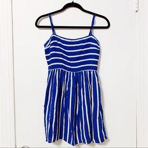 Cobalt blue striped sundress